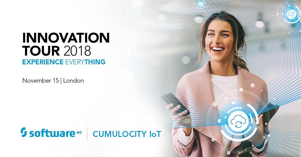 Discover How to Use Cumulocity IoT to Digitally Transform at the Software AG Innovation Tour 2018 in London