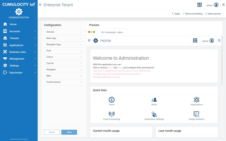 Enterprise tenant   Cumulocity IoT Guides